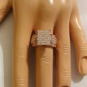 DIAMOND RING,  CUBIC ZIRCONIA,  SIZE 7